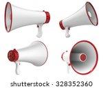 3d rendered megaphone isolated... | Shutterstock . vector #328352360