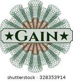 gain money style rosette | Shutterstock .eps vector #328353914