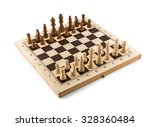 chess board with chess wooden... | Shutterstock . vector #328360484