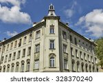 old building facade in... | Shutterstock . vector #328370240