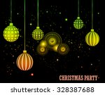 happy christmas and  new year... | Shutterstock .eps vector #328387688
