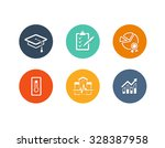vector set of flat icons for... | Shutterstock .eps vector #328387958