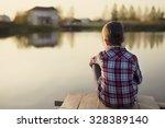 daydream. child dreaming... | Shutterstock . vector #328389140