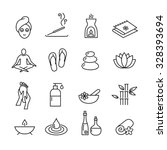 collection of icons... | Shutterstock .eps vector #328393694