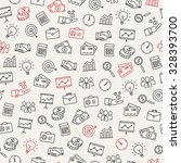 business icons seamless pattern ... | Shutterstock .eps vector #328393700