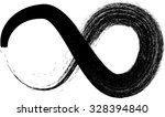 vector looped black painted... | Shutterstock .eps vector #328394840