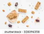 granola bars  muesli bars or... | Shutterstock . vector #328396358