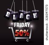 black friday shopping season... | Shutterstock .eps vector #328397573