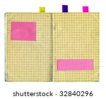 obsolete notebook with sticky... | Shutterstock . vector #32840296