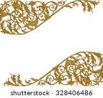 Ornament elements  vintage gold ...