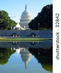 reflection of united states... | Shutterstock . vector #32842