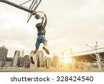 Basketball Street Player Making ...