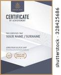 vector certificate template. | Shutterstock .eps vector #328425686