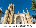 cathedral saint sauveur in aix... | Shutterstock . vector #328428224
