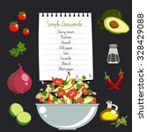 simple gaucamole recipe layout... | Shutterstock .eps vector #328429088