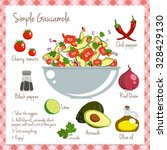 simple gaucamole recipe layout... | Shutterstock .eps vector #328429130