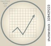 vector business growing chart... | Shutterstock .eps vector #328429223