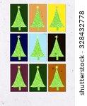christmas trees | Shutterstock . vector #328432778
