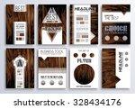 brochure template  flyer design ... | Shutterstock .eps vector #328434176