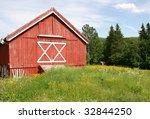 red barn | Shutterstock . vector #32844250