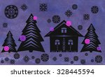 winter background with trees | Shutterstock . vector #328445594