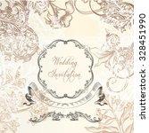 elegant wedding or anniversary... | Shutterstock .eps vector #328451990