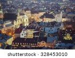 night view of western european... | Shutterstock . vector #328453010