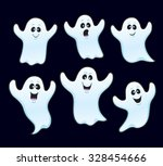 six halloween ghosts   Shutterstock .eps vector #328454666