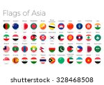 circle flags of the world.... | Shutterstock .eps vector #328468508