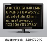 dotted font on monitor vector... | Shutterstock .eps vector #328471040