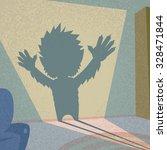 werewolf shadow silhouette... | Shutterstock .eps vector #328471844
