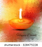 diwali burning diya colorful... | Shutterstock .eps vector #328475228