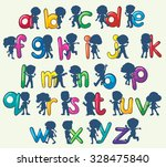 children with english alphabets ... | Shutterstock .eps vector #328475840