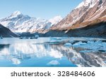 View to Hooker Lake and mt. Cook, Aoraki National Park, New Zeal