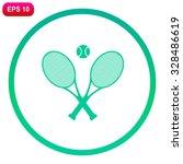 tennis rackets with ball vector ... | Shutterstock .eps vector #328486619