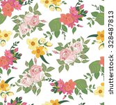 seamless floral pattern. | Shutterstock .eps vector #328487813