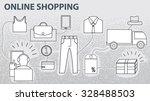 vector set of e commerce online ... | Shutterstock .eps vector #328488503