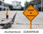 small figure working man and... | Shutterstock . vector #328489838