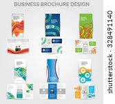 tri fold brochure design vector ... | Shutterstock .eps vector #328491140