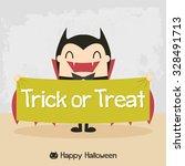 cartoon vampire. dracula... | Shutterstock .eps vector #328491713
