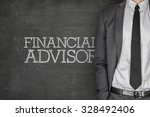 financial advisor on blackboard ... | Shutterstock . vector #328492406