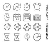 time and clock icons  flat... | Shutterstock .eps vector #328494068