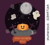 spooky halloween night concept... | Shutterstock .eps vector #328497164