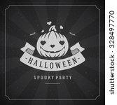 happy halloween typographic... | Shutterstock .eps vector #328497770