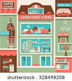 vector set with design elements ... | Shutterstock .eps vector #328498208