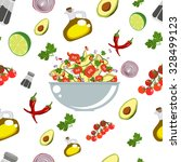 various vegetables icons set... | Shutterstock .eps vector #328499123