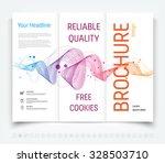 vector modern tri fold brochure ... | Shutterstock .eps vector #328503710