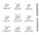 fishing bass label | Shutterstock .eps vector #328504550