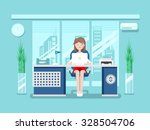 secretary in office.... | Shutterstock .eps vector #328504706