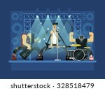 rock band concert  guitar and... | Shutterstock .eps vector #328518479
